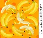 fresh bananas vector... | Shutterstock .eps vector #473733196