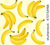 fresh bananas vector... | Shutterstock .eps vector #473733988