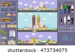 city life infographic set with... | Shutterstock .eps vector #473734075