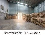 hemp sacks containing rice in...