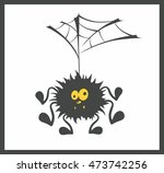 cute spider and web vector.... | Shutterstock .eps vector #473742256