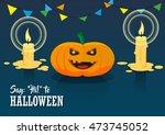 color illustration of festive... | Shutterstock .eps vector #473745052