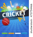 cricket event poster template... | Shutterstock .eps vector #473754466
