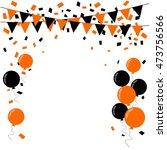 halloween background. vector... | Shutterstock .eps vector #473756566
