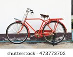 bicycle vintage red background... | Shutterstock . vector #473773702