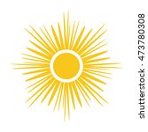 sun icon. light sign with... | Shutterstock . vector #473780308
