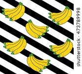 bananas pattern lines... | Shutterstock .eps vector #473789998