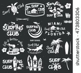 set of retro vintage badges and ... | Shutterstock . vector #473803306