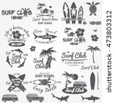 set of retro vintage badges and ... | Shutterstock . vector #473803312