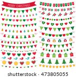 christmas bunting decoration ... | Shutterstock .eps vector #473805055