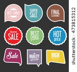 modern sale stickers and tags... | Shutterstock .eps vector #473815312