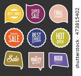modern sale stickers and tags... | Shutterstock .eps vector #473815402