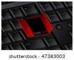 enter door keyboard  vector... | Shutterstock .eps vector #47383003