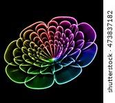 Rainbow Flower Shaped Fractal...