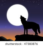 Vector Illustration Of Howling...