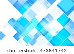 abstract square blue background.... | Shutterstock .eps vector #473841742