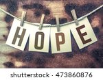 """the word """"hope"""" stamped on... 