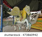Amusement Park Carousel Horse.