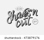 hand draw lettering in vector.... | Shutterstock .eps vector #473879176