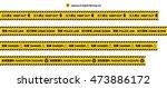 keep out  radiation hazard  ... | Shutterstock .eps vector #473886172