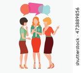 cartoon character of women with ... | Shutterstock .eps vector #473889856
