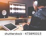 sound engineer  audio editor... | Shutterstock . vector #473890315