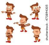 vector cartoon set of cute...   Shutterstock .eps vector #473894305