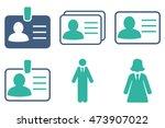 person account card vector... | Shutterstock .eps vector #473907022