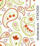 floral seamless background with ... | Shutterstock .eps vector #47392300