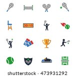 tennis web icons for user... | Shutterstock .eps vector #473931292