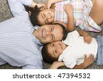 portrait of family  dad playing ... | Shutterstock . vector #47394532