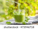 fresh mousse with cucumber ...   Shutterstock . vector #473946718