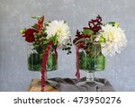 floral arrangement with white... | Shutterstock . vector #473950276
