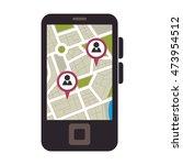 smartphone gps application...   Shutterstock .eps vector #473954512