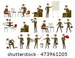 set character businessman in... | Shutterstock . vector #473961205
