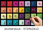 flat design letters  icons...
