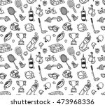 cartoon sport equipment... | Shutterstock .eps vector #473968336