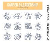 doodle vector line icons set of ... | Shutterstock .eps vector #473969566