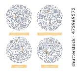set of doodle line vector... | Shutterstock .eps vector #473969572