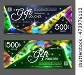 gift voucher. vector ...   Shutterstock .eps vector #473976112