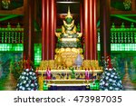 statue of the emerald buddha at ... | Shutterstock . vector #473987035