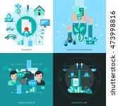business insurance concept... | Shutterstock . vector #473998816