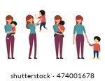 vector character set of mother... | Shutterstock .eps vector #474001678