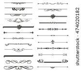 vector set of calligraphic... | Shutterstock .eps vector #474020182