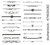 vector set of calligraphic... | Shutterstock .eps vector #474020182