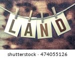 "the word ""land"" stamped on... 
