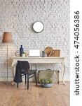 brick wall horizontal banner...   Shutterstock . vector #474056386