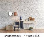 brick wall horizontal banner... | Shutterstock . vector #474056416