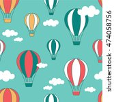 air balloons and clouds hand... | Shutterstock .eps vector #474058756