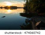Sunset At The River. Beautifu...